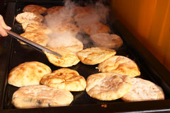 Buns on the grill Stock Photography