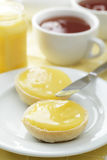 Buns with lemon curd Royalty Free Stock Photo