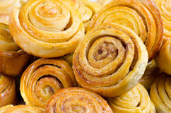 Buns. Lots of tasty buns are golden Stock Images