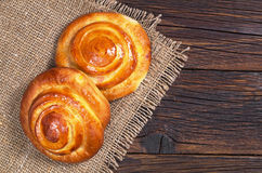 Buns with marmalade Stock Images