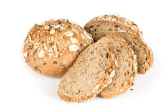 Buns with oats and sunflower Royalty Free Stock Photo
