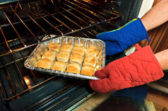 Buns in the Oven Stock Image