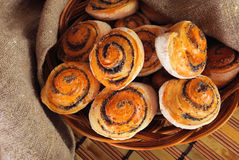 Buns with poppy Royalty Free Stock Photography