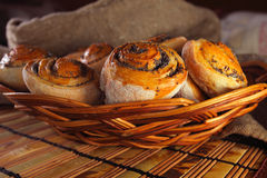 Buns with poppy Royalty Free Stock Images