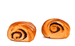 Buns with poppy isolated Stock Image