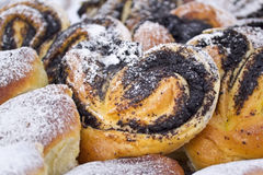 Buns with poppy seeds Royalty Free Stock Photo