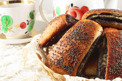 Buns with poppy seeds Stock Image