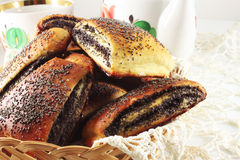 Buns with poppy seeds Royalty Free Stock Images