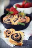 Buns with poppy seeds Stock Images