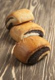 Buns with poppy seeds Stock Photos