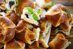 Buns with poppy Stock Photography