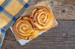 Buns with raisins Royalty Free Stock Photos