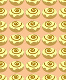 Buns seamless pattern royalty free stock photography