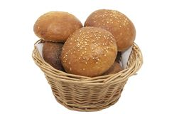 Buns with sesame seeds Royalty Free Stock Photos
