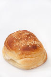 Buns with sesame seeds on the white background Royalty Free Stock Photography