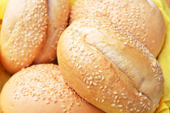 Buns with sesame Stock Photo