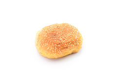 Buns sprinkled with sesame seeds on a white background Royalty Free Stock Photos