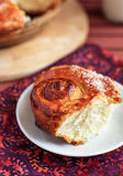 Buns with sugar. To tea royalty free stock images