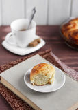 Buns with sugar. To tea royalty free stock photography