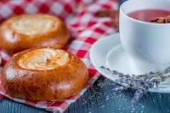 Buns and tea Royalty Free Stock Image