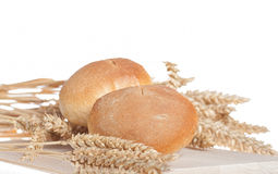 Buns and Wheat Royalty Free Stock Photo