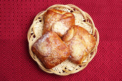 Buns in wicker plate Royalty Free Stock Images