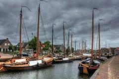 Bunschoten-Spakenburg Nederländerna, Europa Arkivbilder