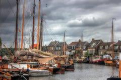 Bunschoten-Spakenburg Nederländerna, Europa Royaltyfri Fotografi