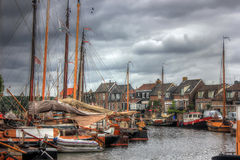 Bunschoten-Spakenburg, Nederland, Europa Royalty-vrije Stock Fotografie