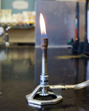Bunsen Burner. In a chemistyr laboratory royalty free stock photography