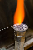 Bunsen burner flame Royalty Free Stock Images