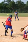 Bunt. Player bunting Stock Photography