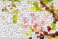 Bunt auf weißem, nettem und Spaßstimmungszusammenfassungsgrün-Rosabr Lizenzfreie Stockbilder