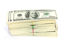 Bunt av $100 bills Fotografering för Bildbyråer