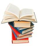 Bunt av böcker Arkivfoto