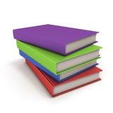 Bunt av böcker i färgräkning royaltyfri illustrationer