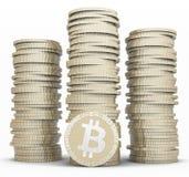 Bunt av bitcoins Royaltyfri Foto