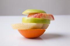 Bunt av blandning skivade frukter Royaltyfria Bilder
