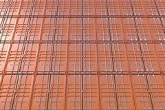 Bunt av brun bakgrund för skepplastbehållare Arkivbilder