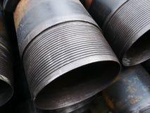 Bunt av casingen för anslutning för slät skarv den olje- väl royaltyfri bild