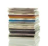 Bunt av CD i askar Arkivfoton