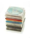 Bunt av CD i askar 2 Arkivbilder