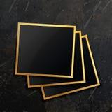 Bunt av den guld- fotoramen Royaltyfria Foton