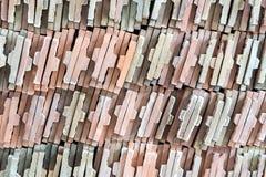 Bunt av den keramiska tegelplattan Arkivfoto