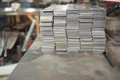 Bunt av den plana stången för stål arkivfoto