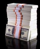 Bunt av dollar arkivfoton
