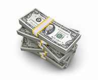 Bunt av dollar Arkivbild