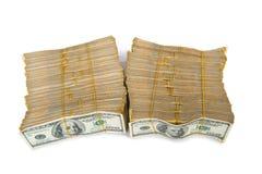 Bunt av dollar i affärsidé Arkivbild