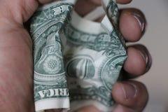 Bunt av 1 dollar sedlar royaltyfria foton