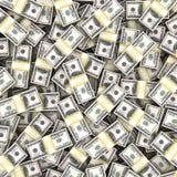 Bunt av 100 dollar USA på vit bakgrund Royaltyfri Bild
